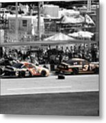 Earnhardt And Martin In The Pits Metal Print