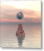 Earth Above The Sea Metal Print