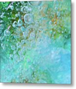 Earth Bubble Metal Print