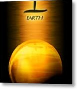 Earth Elemental Sphere Metal Print