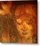 Earth Face Metal Print