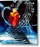 Earth Heart Metal Print