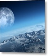 Earth Icy Ocean Aerial View Metal Print