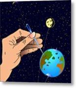 Earth Like An Inflatable Balloon Metal Print