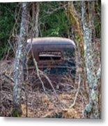 Earth Reclaims A Truck Metal Print