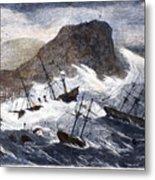 Earthquake And Tidal Wave Metal Print