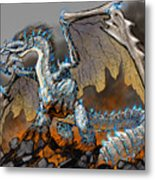 Earthquake Dragon Metal Print