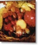 Earthtone Fruit Fresco Metal Print