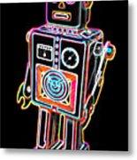 Easel Back Robot Metal Print