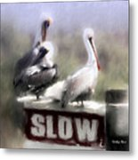 Easily Follows Directions... Metal Print