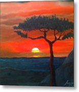 East African Sunset Metal Print