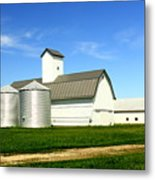 East Central Illinois Farm Buildings By Earl's Photography Metal Print