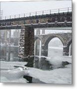 East Falls - The Frozen Schuylkill River Metal Print