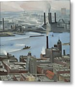 East River From Shelton Hotel Metal Print