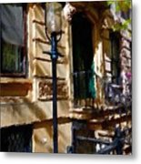 East Village New York Townhouse Metal Print