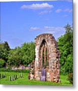 East Window Remains Of Old Church At Ticknall Metal Print