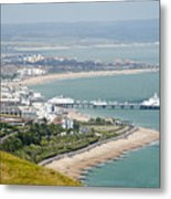 Eastbourne From Beachy Head Sussex Uk Metal Print