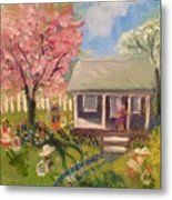 Easter At My House Metal Print