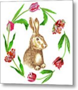 Easter Background Metal Print