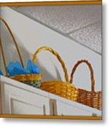 Easter Baskets Metal Print