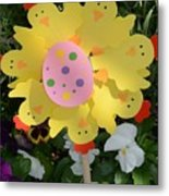 Easter Chick Decoration Metal Print