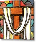 Easter Cross 6 Metal Print