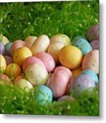 Easter Egg Nest Metal Print