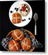Easter Hot Cross Buns  Metal Print