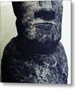 Easter Island Stone Statue Metal Print