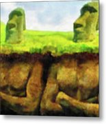 Easter Island Truth Metal Print