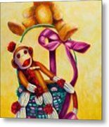 Easter Made Of Sockies Metal Print