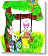 Easter Show Some Bunny Love Metal Print