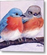 Eastern Bluebirds Metal Print