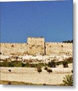 Eastern Gate Temple Mount Metal Print