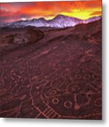 Eastern Sierra Petrolpyh Sunset Metal Print