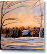 Eastern Townships In Winter Metal Print