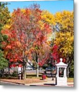 Easthampton Center In The Fall Metal Print