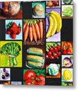 Eat Your Vegies and Fruit Metal Print