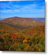 Eaton Hollow Overlook On Skyline Drive In Shenandoah National Park Metal Print