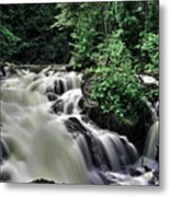 Eau Claire Gorge Water Fall Metal Print