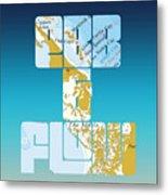 Ebb And Flow Bahamas Metal Print