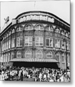Ebbets Field, Brooklyn, Nyc Metal Print by Photo Researchers