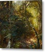 Ebert, Carl 1821 Stuttgart - 1885   Inside A Forest. Metal Print