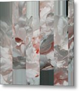 Ebony And Ivory Rose Peony - Floral Abstract Metal Print