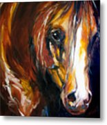 Ebony Night Equine Metal Print