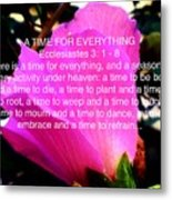 Ecclesiastes 3 A Time For Everything Metal Print