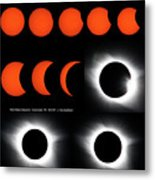 Eclipse Sequence Metal Print