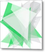 Eco Tec Polygon Pattern Metal Print