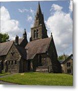 Edale Village Church Metal Print