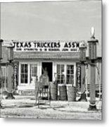 Edcouch Texas Gas Station 1939 Metal Print